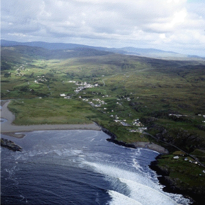 Aerial view of Glencolumbkille.