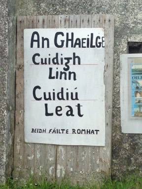 A sign on Tory Island