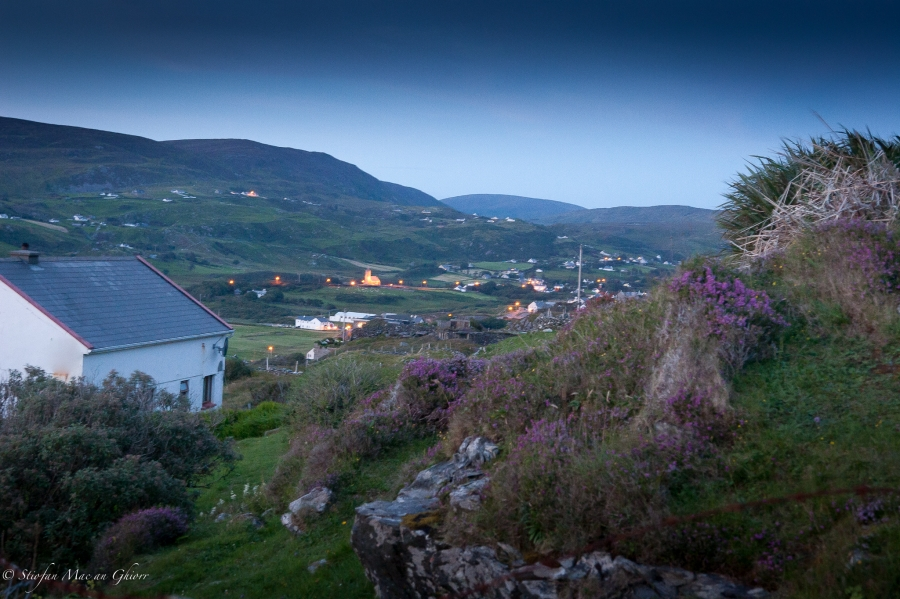 Gleann Cholm Cille at night - image taken by one of the participants on our digital photography course.
